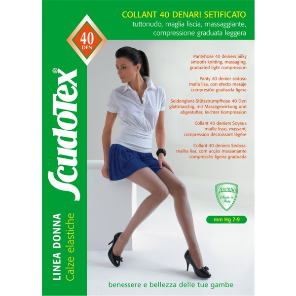 calze elastiche a compressione graduata 40 denari